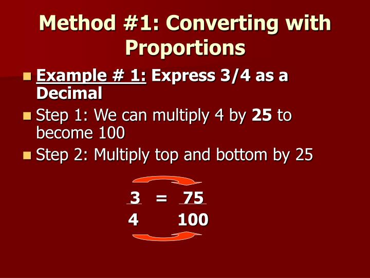 Method #1: Converting with Proportions
