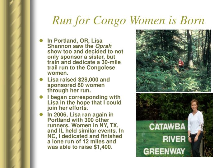 Run for Congo Women is Born