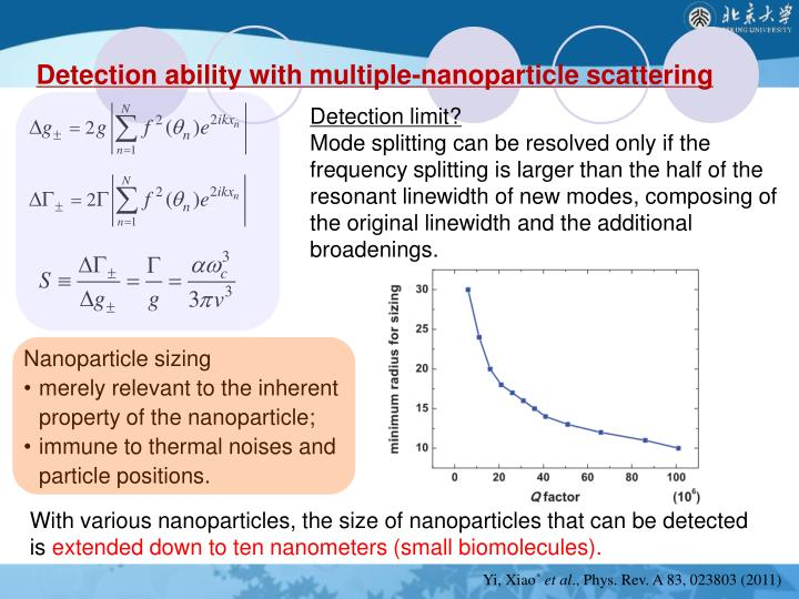Detection ability with multiple-nanoparticle scattering