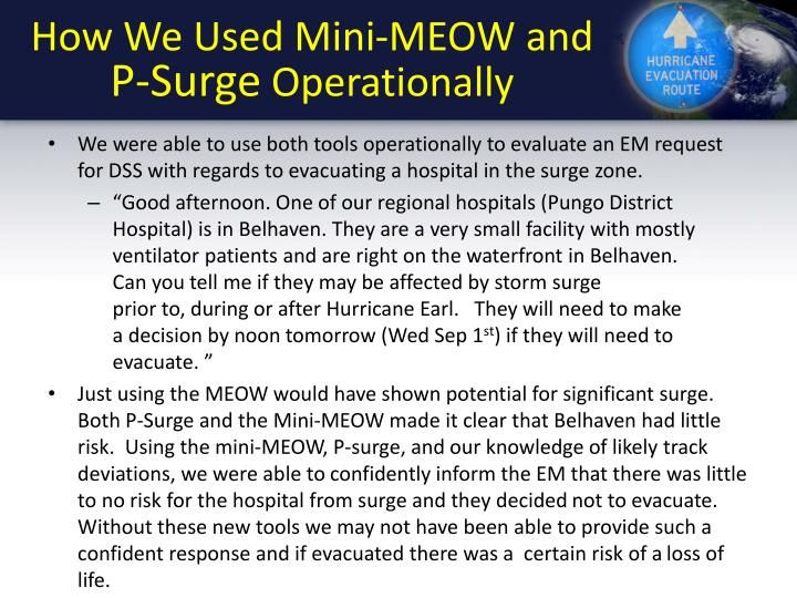 How We Used Mini-MEOW and