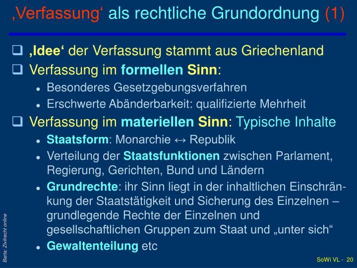 'Verfassung'