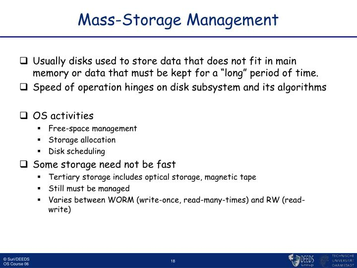 Mass-Storage Management