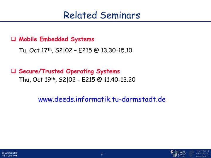Related Seminars