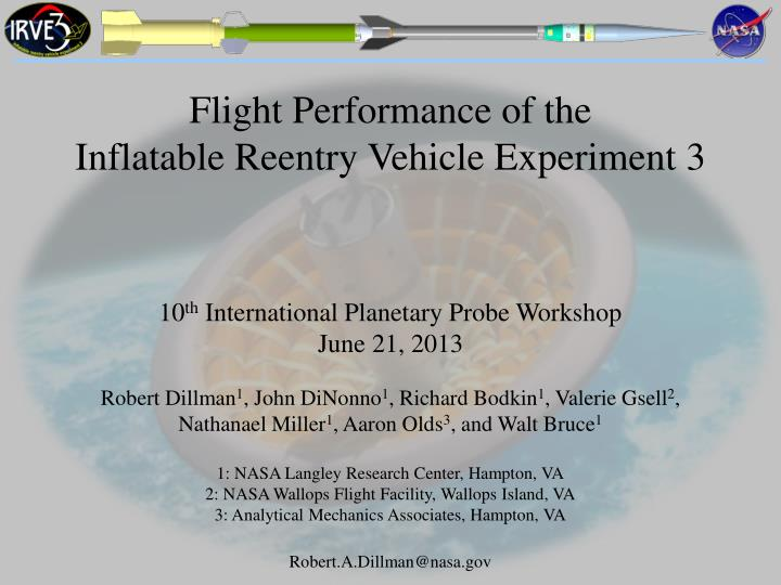 Flight Performance of the