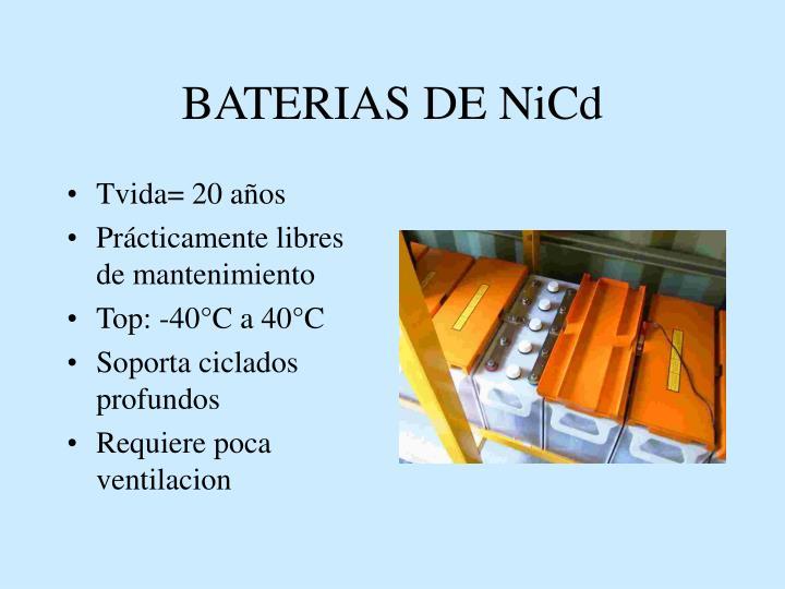 BATERIAS DE NiCd