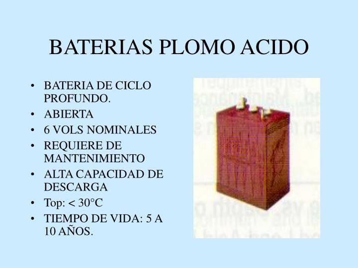 BATERIAS PLOMO ACIDO