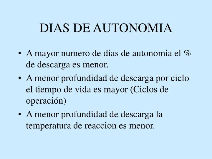 DIAS DE AUTONOMIA