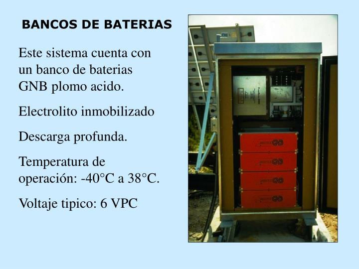 BANCOS DE BATERIAS