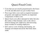 quasi fixed costs