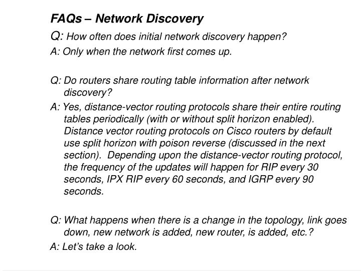 FAQs – Network Discovery