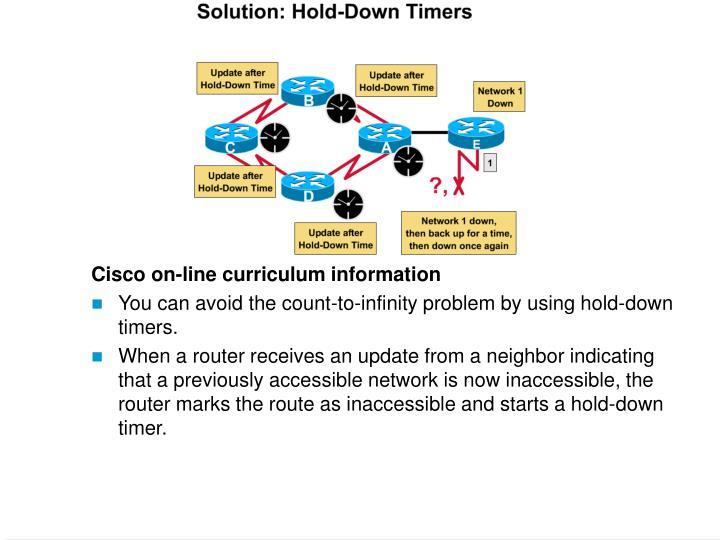 Cisco on-line curriculum information