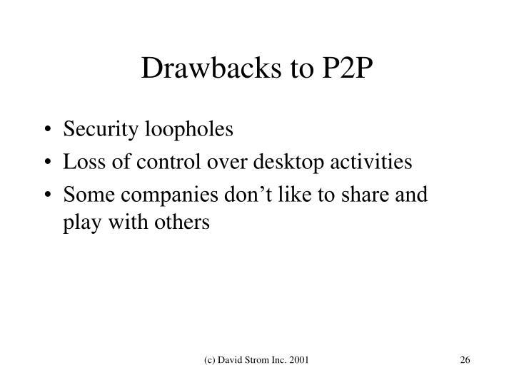 Drawbacks to P2P