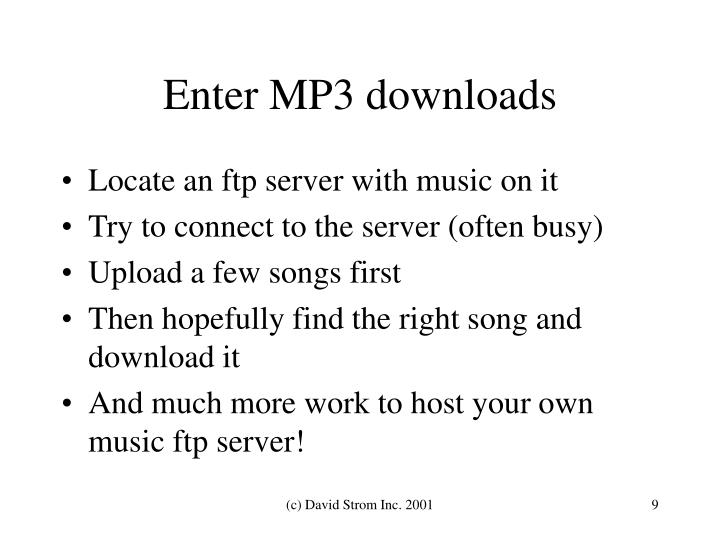 Enter MP3 downloads