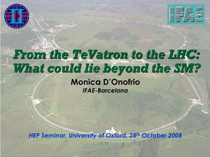 From the tevatron to the lhc what could lie beyond the sm