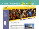 before social media the webpage