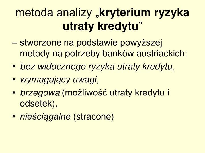 """metoda analizy """""""