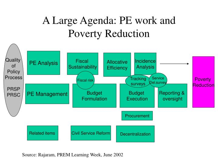 A Large Agenda: PE work and