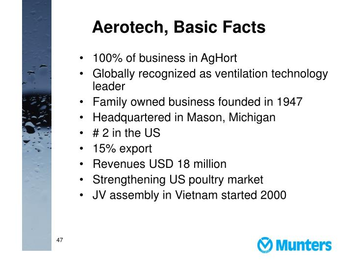 Aerotech, Basic Facts