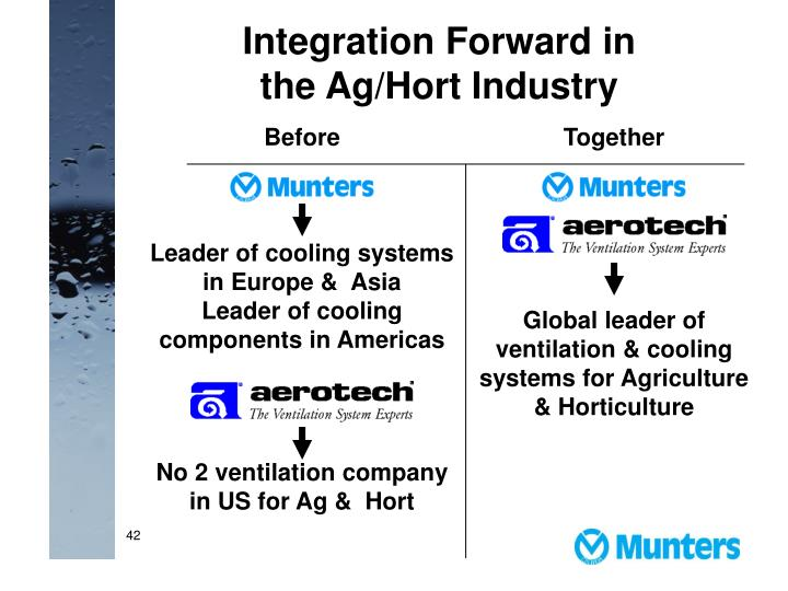 Integration Forward in the Ag/Hort Industry