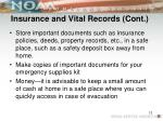 insurance and vital records cont