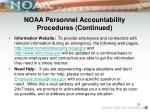 noaa personnel accountability procedures continued