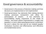 good governance accountability