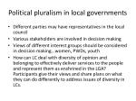 political pluralism in local governments