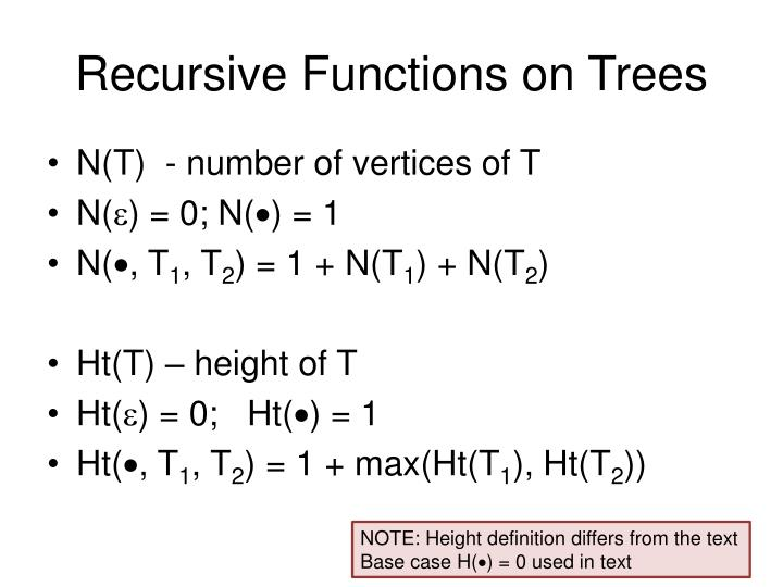 Recursive Functions on Trees