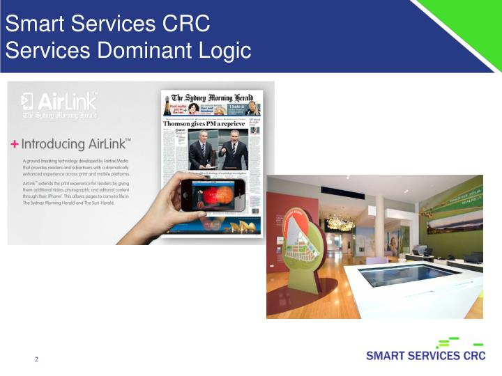 Smart services crc services dominant logic
