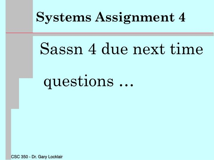 Systems Assignment 4