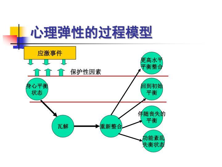 心理弹性的过程模型