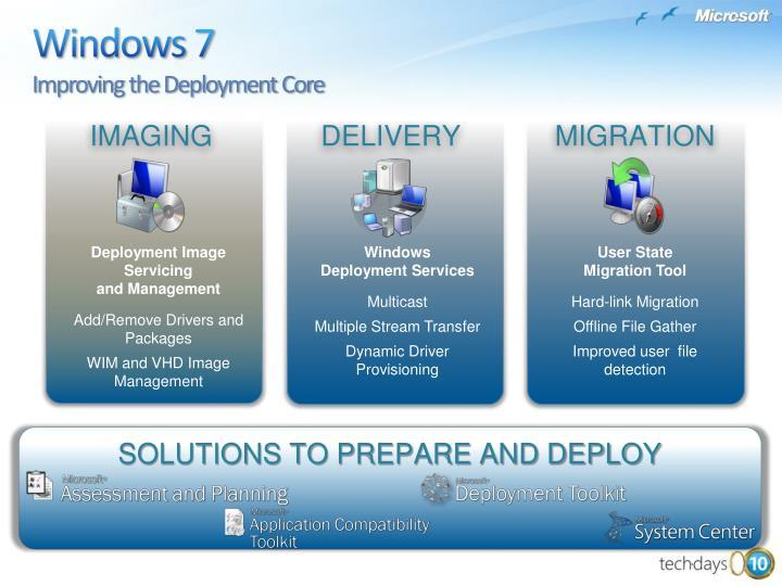 Windows 7 improving the deployment core