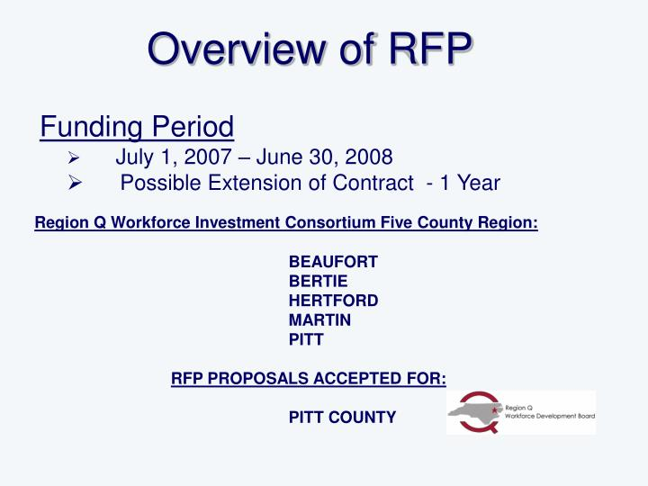 Overview of RFP