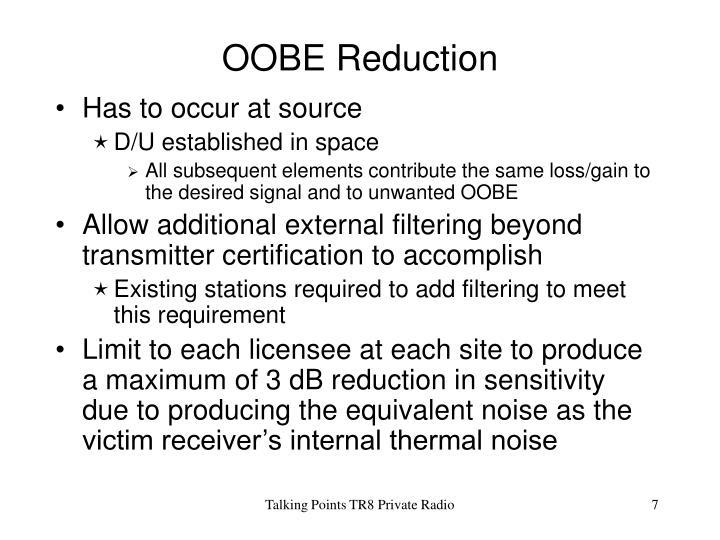 OOBE Reduction
