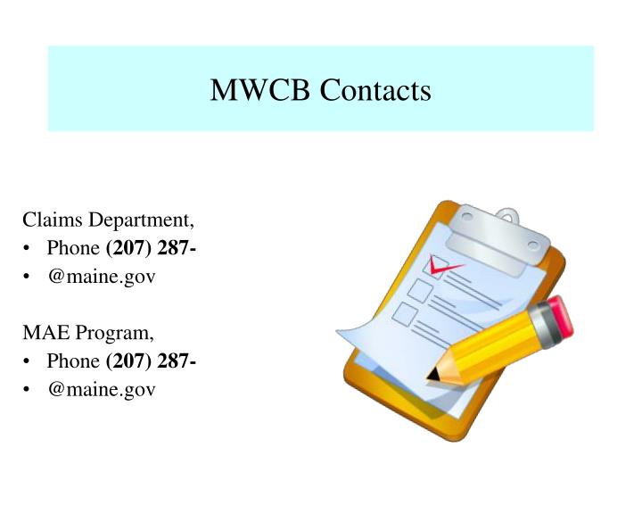 MWCB Contacts