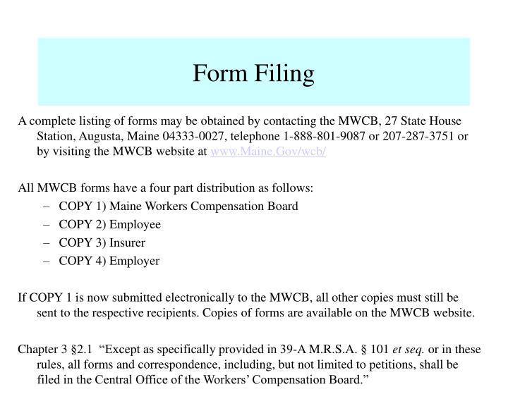 Form Filing