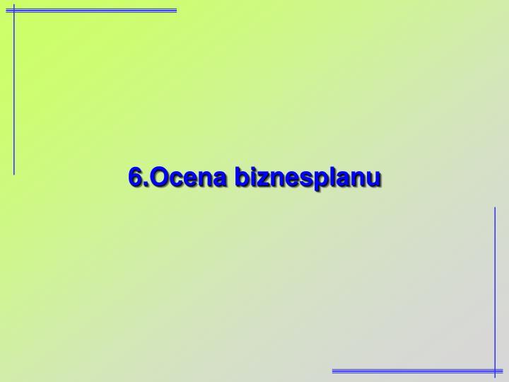 6.Ocena biznesplanu