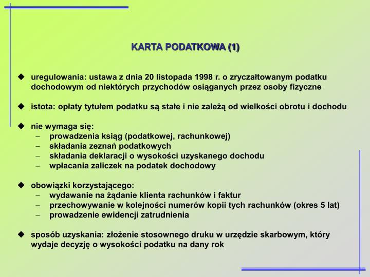 KARTA PODATKOWA (1)
