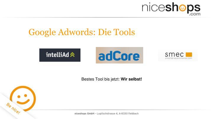 Google Adwords: Die Tools