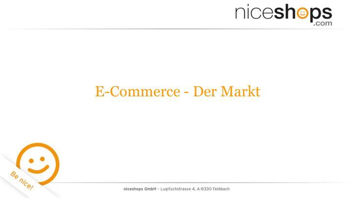 E-Commerce - Der Markt