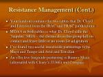 resistance management cont1