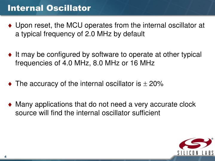 Internal Oscillator