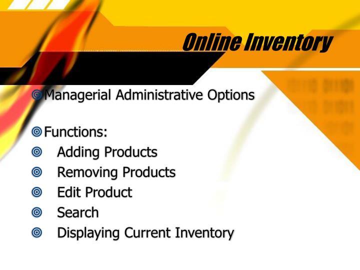Online inventory