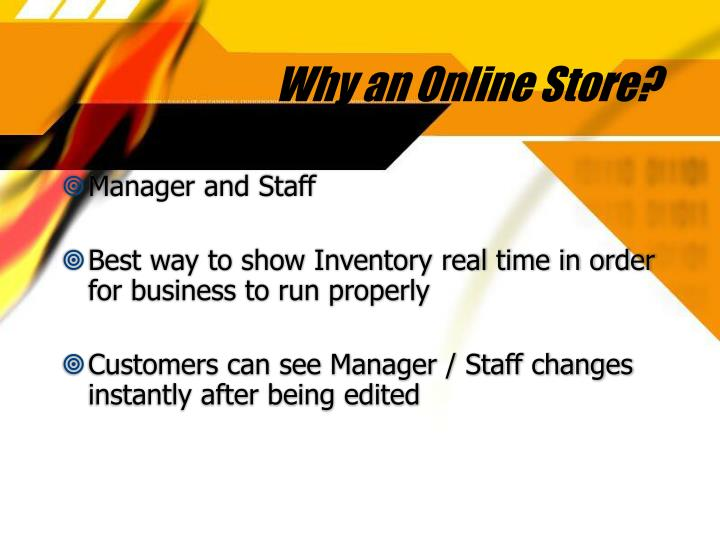 Why an Online Store?
