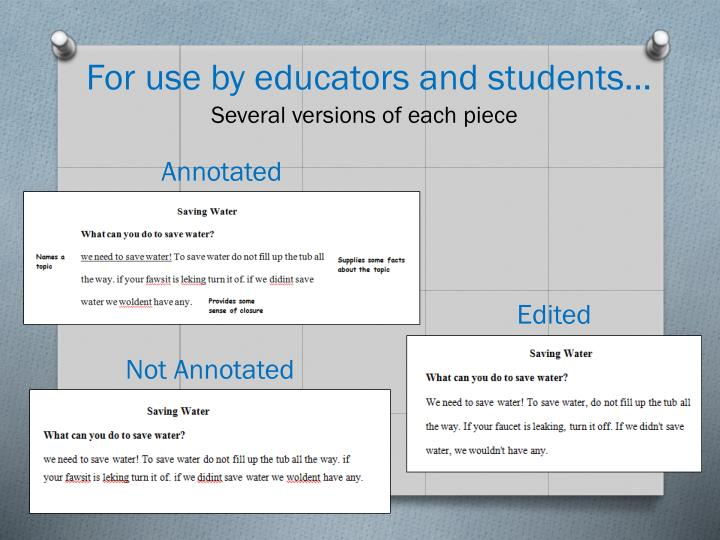 For use by educators and students…