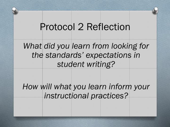 Protocol 2 Reflection