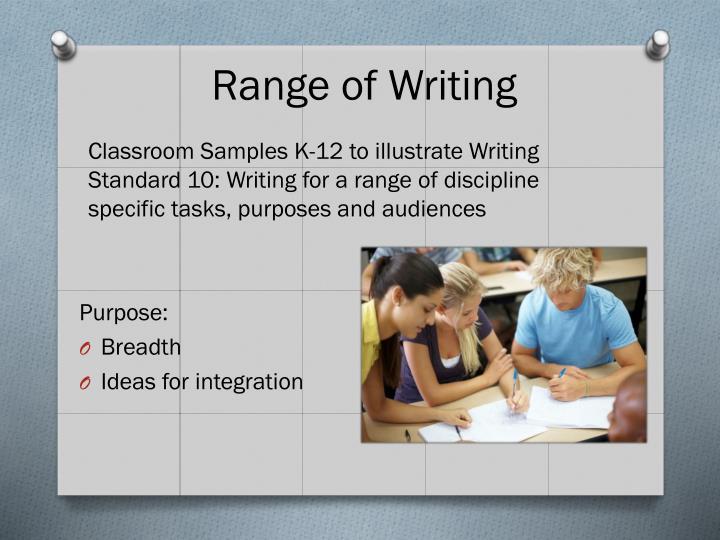 Range of Writing