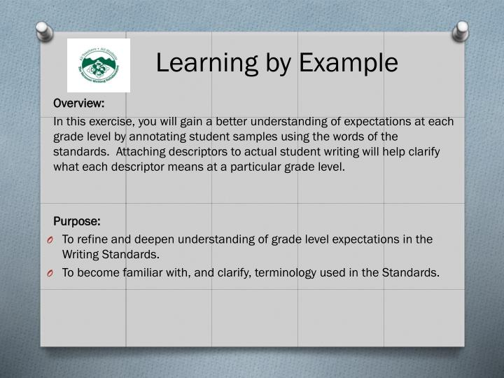 Learning by Example