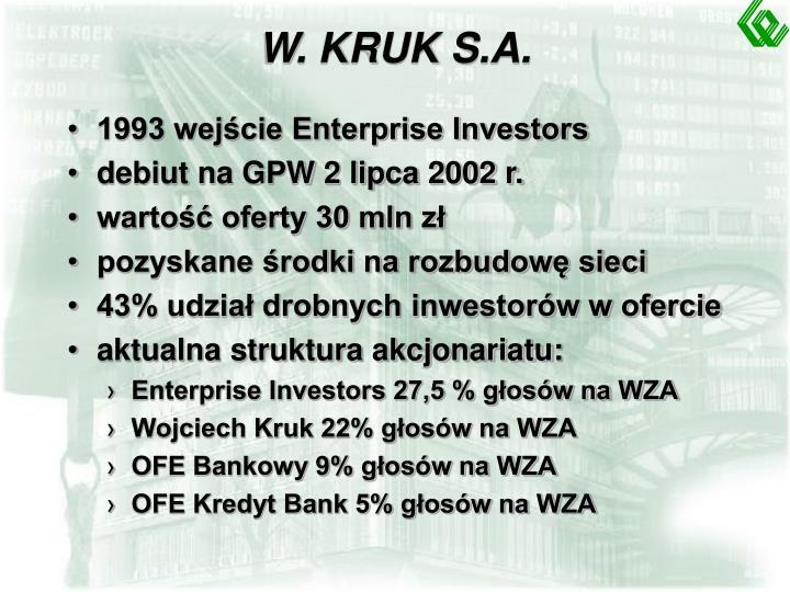 W. KRUK S.A.