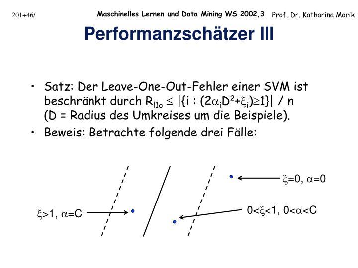 Performanzschätzer III